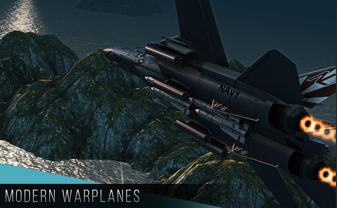 Симулятор боевого самолета с многопользовательским режимом.