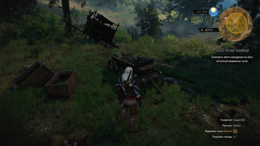 Прохождение Ведьмак 3 Лесное чудовище Велен доп задание часть 7