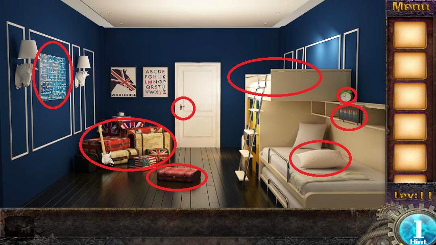Прохождение игры 50 комнат 1 Уровень 11 (Escape Game 50 Rooms 1 Level 11)