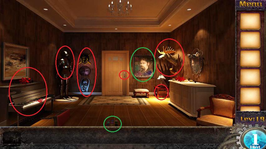Прохождение игры 50 комнат 1 Уровень 19 (Escape Game 50 Rooms 1 Level 19)