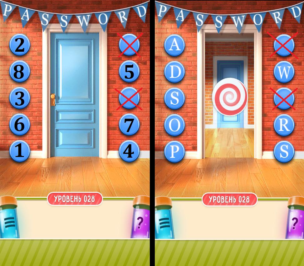 100 дверей дом головоломок 28 уровень прохождение