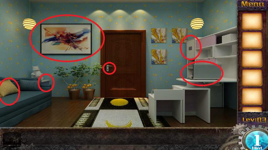 Прохождение игры 50 комнат 1 Уровень 3 (Escape Game 50 Rooms 1 Level 3)