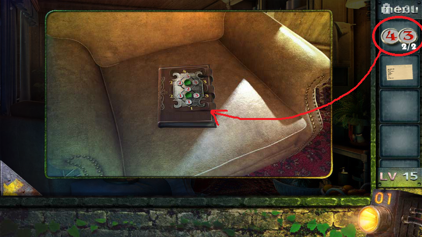 Прохождение игры 50 комнат 2 Уровень 15 (Escape Game 50 Rooms 2 Level 15)